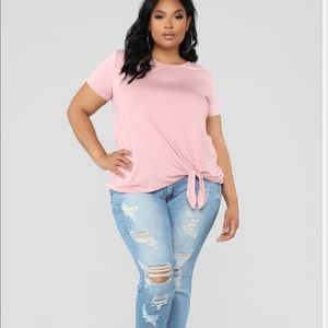 Mine, Knot Yours-Crop Knot Tee
